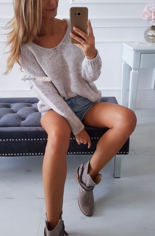 Sweter ILLY beżowy