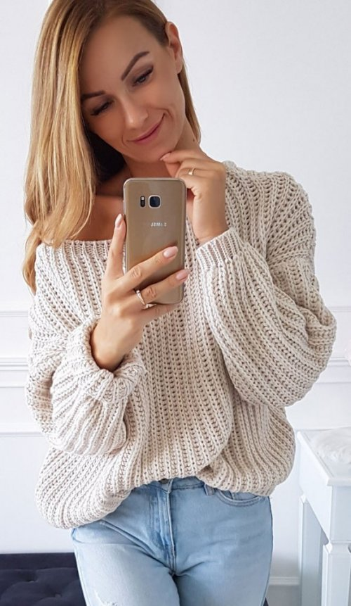 Sweter FLORIDA beżowy