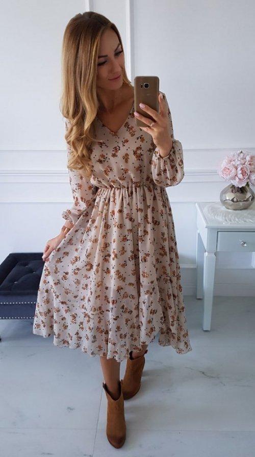 Sukienka AUGUST w kwiatowy wzór