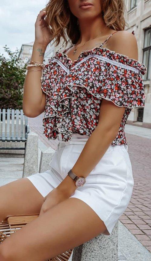 Bluzka VENEZIANA w kwiatowy wzór