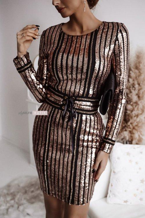 Sukienka DIAMOND różowe złoto