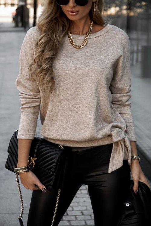 Sweter KAILO beż melanż