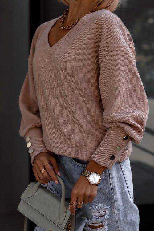 Sweter FABIOLA pudrowy beż