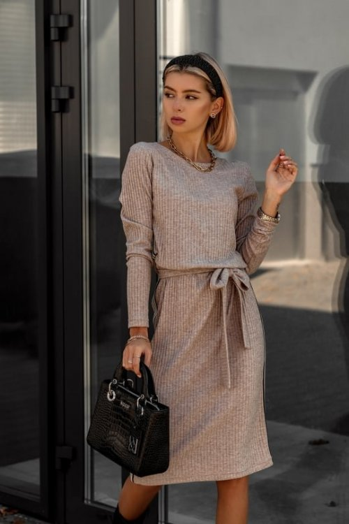 Sukienka LAMOUR beżowa