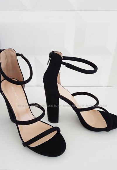Sandały na słupku VS-04- black 5