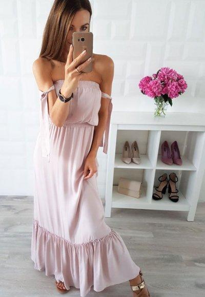 Sukienka SPAIN beżowa 2
