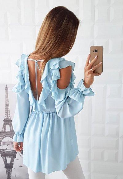 Bluzka ORIANA błękitna