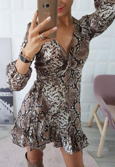 Sukienka MONICA wężowy print