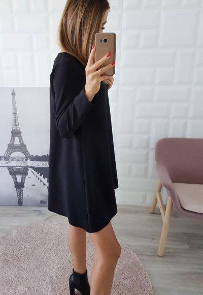 Sukienka TRAPEZ czarna 1