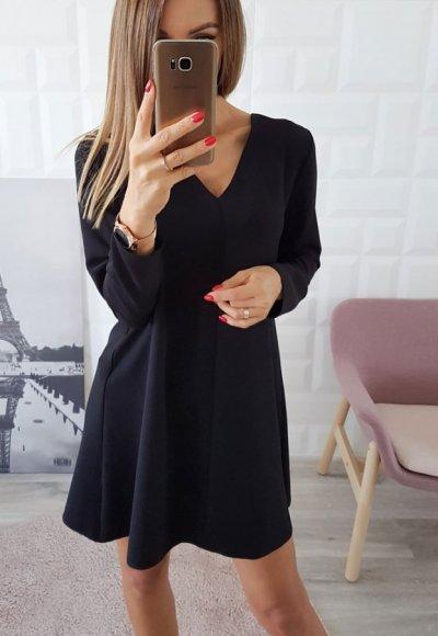 Sukienka TRAPEZ czarna 2