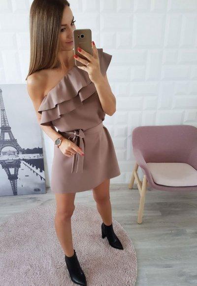 Sukienka BELLA beż 2