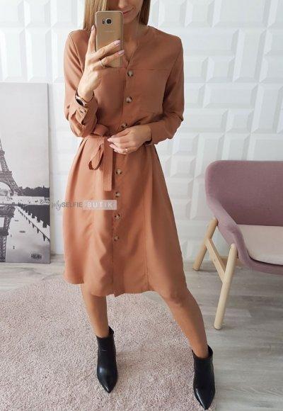 Sukienka MONA camel