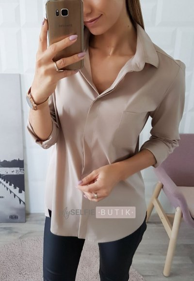 Koszula LALU beżowa