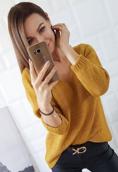 Sweter ILLY musztardowy