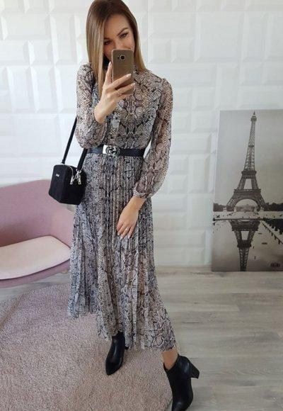 Sukienka PEONYA wężowy print