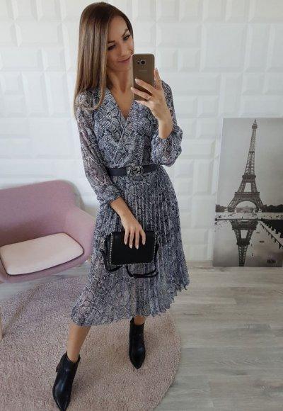 Sukienka MISS DRESS wężowy print