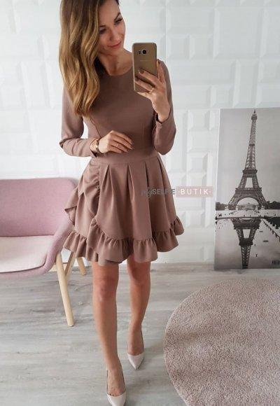 Sukienka NADIA beżowa