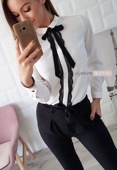 Bluzka BLACK LACE biała