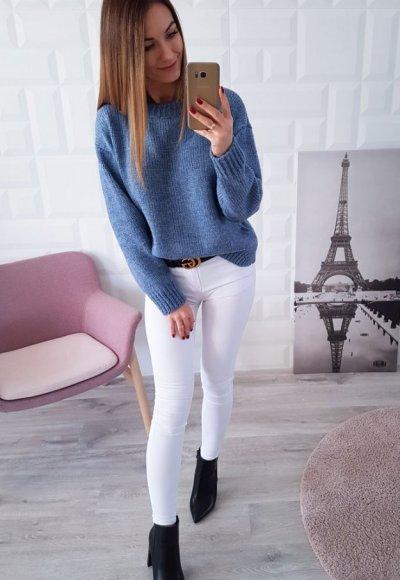 Sweter MARIAL niebieski