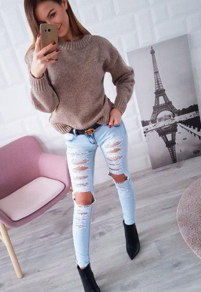 Spodnie GOURD jasny jeans