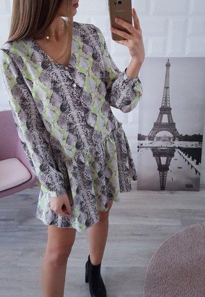Sukienka VINN wężowy wzór