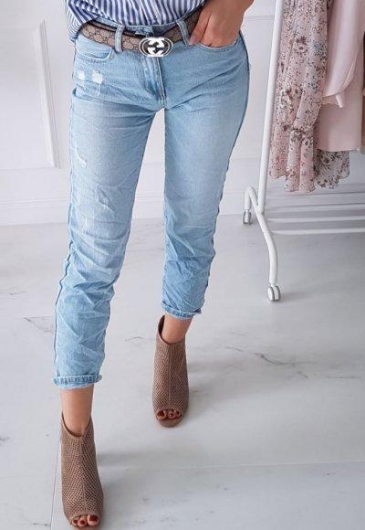 Spodnie boyfriend ROLLER jasny jeans