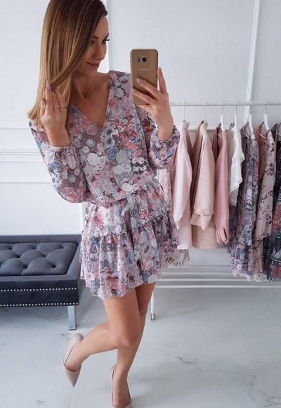Sukienka KAYA w kwiatki
