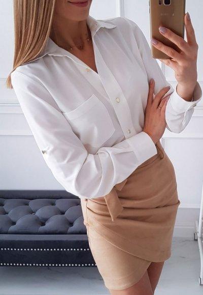 Koszula SISSIE biała z kieszonka