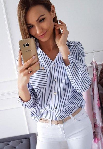 Koszula PRINCE niebieskie paski