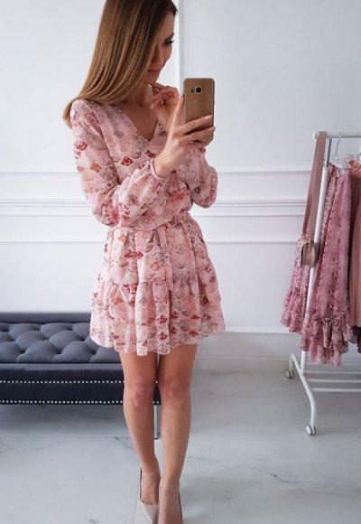 Sukienka KATHIA we wzory 1