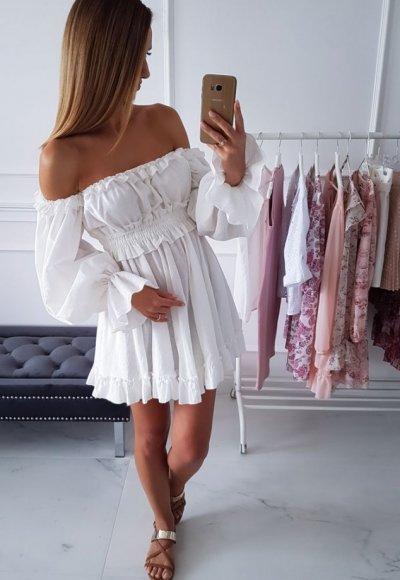 Sukienka hiszpanka MELISSA biała
