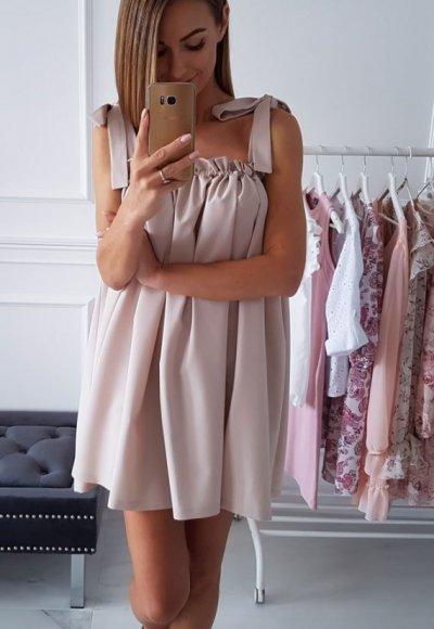 Sukienka PAULIN beżowa