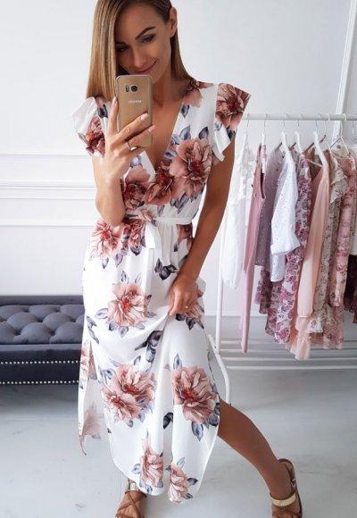 Sukienka BALI w kwiatowy wzór