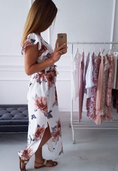 Sukienka BALI w kwiatowy wzór 2
