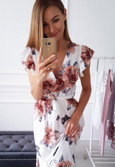Sukienka BALI w kwiatowy wzór 1