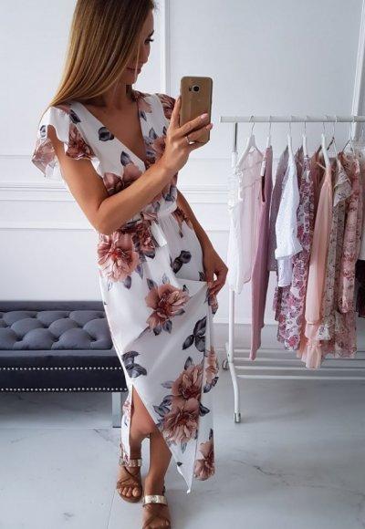 Sukienka BALI w kwiatowy wzór 3