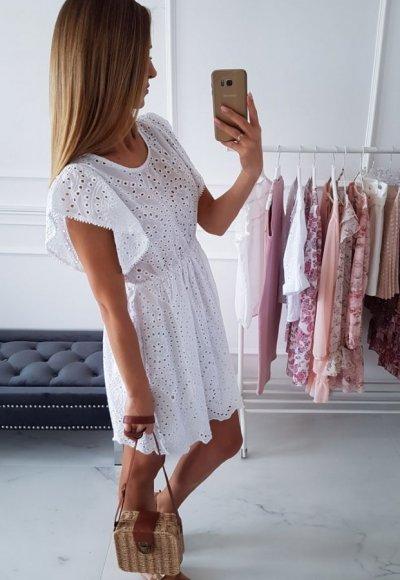 Sukienka FRILL biała
