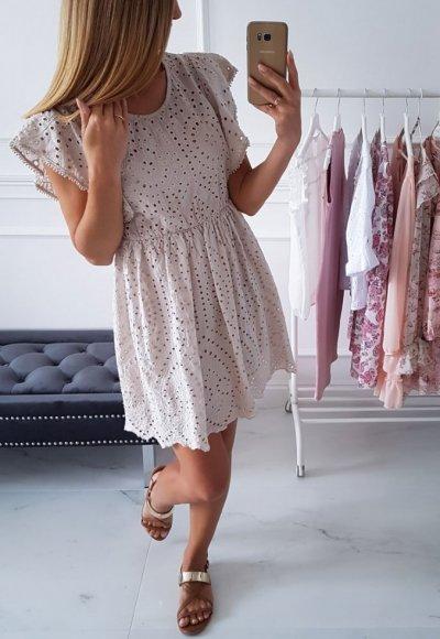 Sukienka FRILL beż
