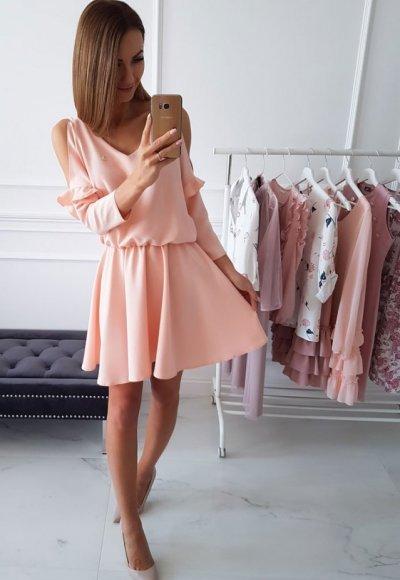Sukienka ABBI morelowa