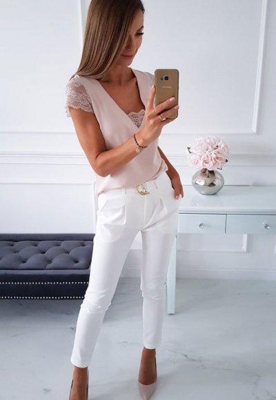 Spodnie TEDORRO białe