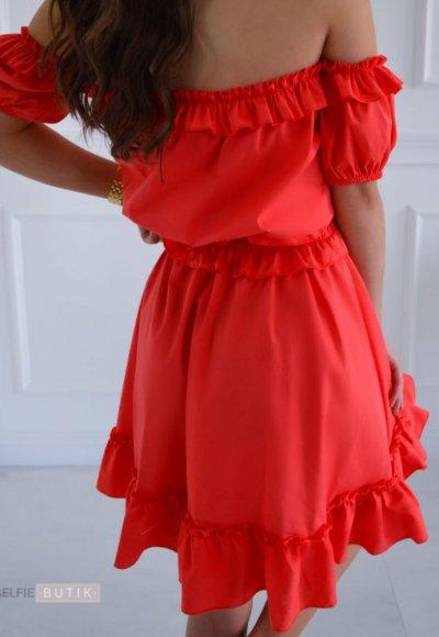 Sukienka hiszpanka MEGANE koralowa 1