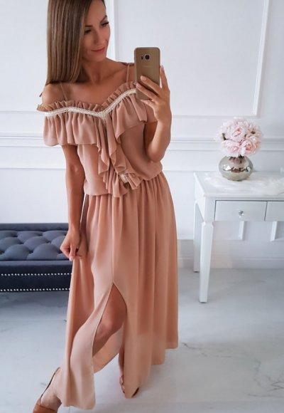 Sukienka ATHENA beżowa