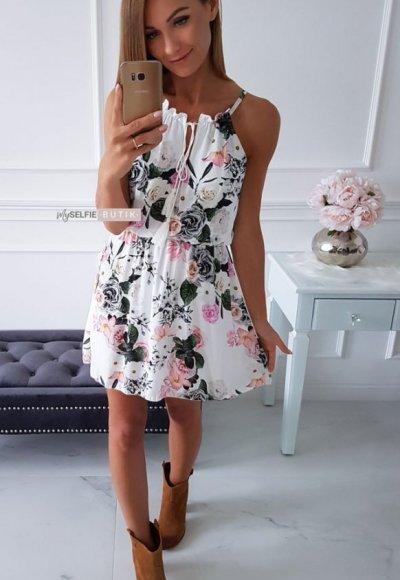 Sukienka MYKONOS w kwiatowy wzór