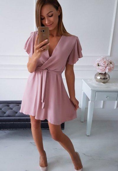 Sukienka SANTORINI pudrowa