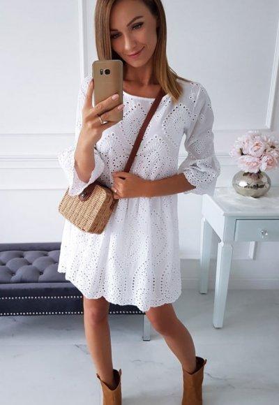 Sukienka LORETT biała