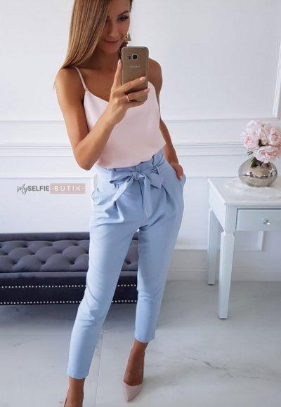 Spodnie LOMBANCE niebieskie