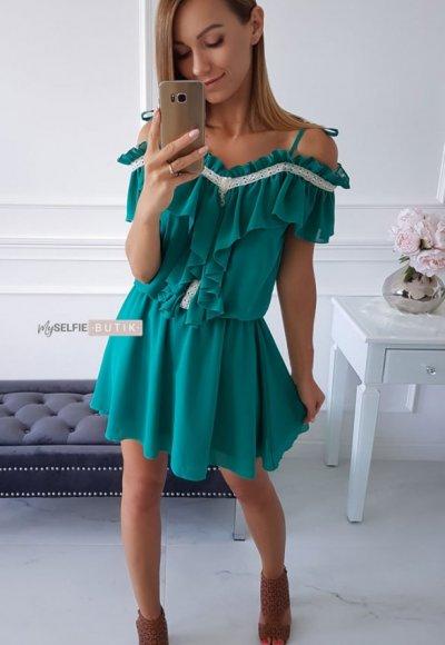Sukienka ATHENA szmaragdowa zieleń