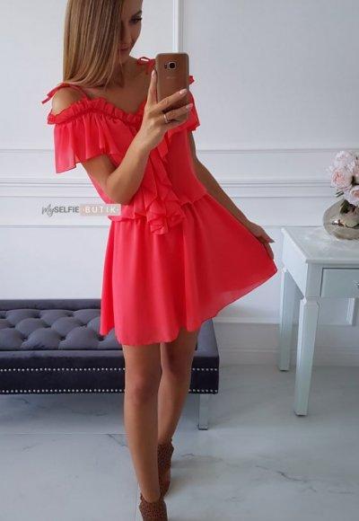 Sukienka ATHENA koralowa