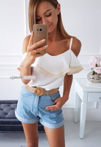 Top SANDY BOHO ecru