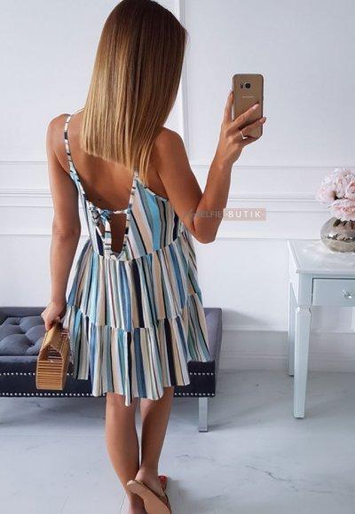 Sukienka STRIPES paseczki kolorowe